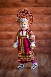 "Сарафан детский из атласа ""Аленушка"" 86-92 см"