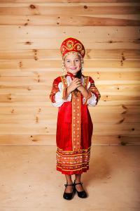"""Сарафан детский из атласа """"Аленушка"""" 134-140"""