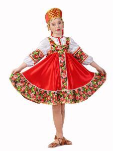 "Сарафан детский из атласа ""Плясовой"" 122-128"