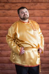 "Косоворотка из атласа ""Дмитрий"" 48-50, 52-54, 56-58"