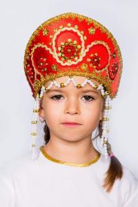 """Кокошник  """"Алина"""" (красный)"""
