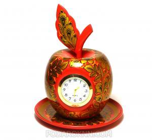 "Комплект ""Яблочко на тарелке"" часы+тарелка"