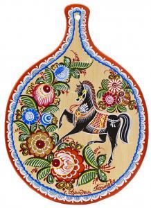 """Доска разделочная """"Конь на дыбах"""" т. 8"""