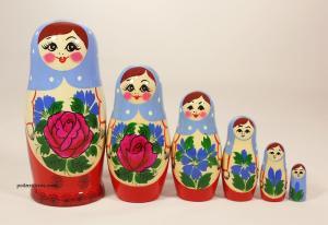Матрёшка 6 - ти  кукольная