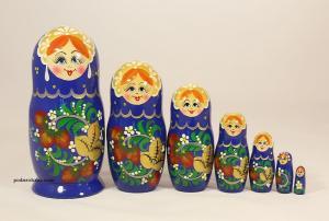 """Матрёшка """"Хохлома"""" 7 - ми кукольная"""