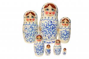 "Матрёшка ""Гжель"" 7 - ми кукольная"