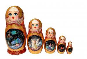 Матрёшка 5-ти кукольная