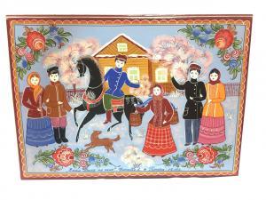 "Шкатулка для документов ""Ехал Ваня на коне"""