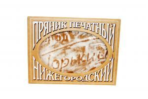 """Пряник печатный «Город Горький"""" лимонный конфитюр"""