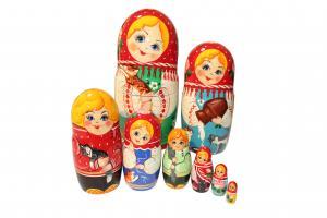 """Матрёшка """"Сказка"""" 8-ми кукольная"""