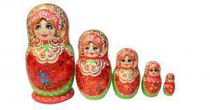 """Матрёшка """"Жар-птица"""" 5 - ти кукольная"""