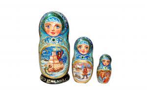"""Матрёшка """"Емеля"""" 3 - х кукольная"""