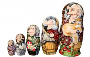 "Матрёшка ""Баба Яга"" 5 - ти кукольная"