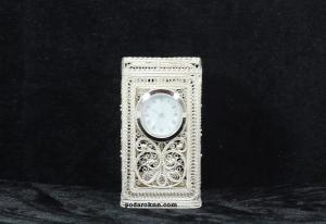 Карандашница с часами квадратная
