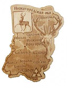 """Магнит """"Карта Нижегородской области"""""""
