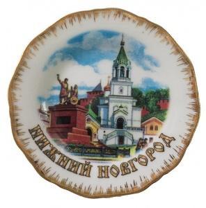 """Магнит-тарелка """"Церковь Рождества Иоанна Предтечи"""""""