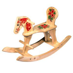 Лошадка-качалка с хохломской росписью