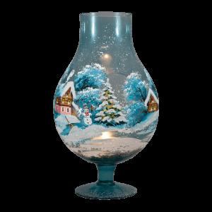 "Подсвечник-лампа ""Зимний день. Снеговик"""