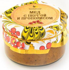 Крем-мёд с пергой и прополисом
