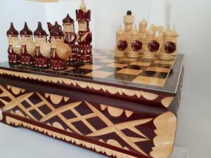 """Шахматы """"Ларец. Русские воины"""""""