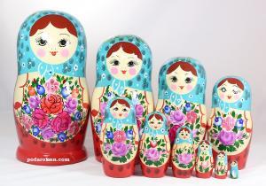 Матрёшка 10 - ти кукольная