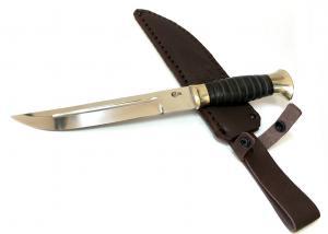 """Нож """"Казак"""" из стали Х12МФ с рукоятью из натуральной кожи"""