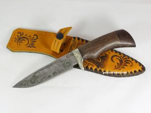"""Нож """"Лазутчик""""из нержавеющей стали 95х18 «Лазутчик» с  рукоятью из древесины венге"""