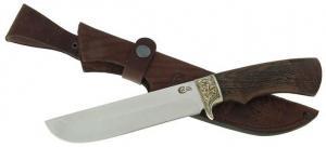 """Нож """"Варяг"""" из нержавеющей стали 95х18 с рукоятью из древесины венге"""