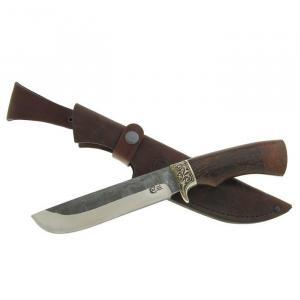 """Нож """"Варяг"""" из нержавеющей стали 95х18 с элементами ковки  с рукоятью из древесины венге"""