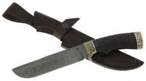 """Нож """"Варяг"""" из дамасской стали с рукоятью из граба"""